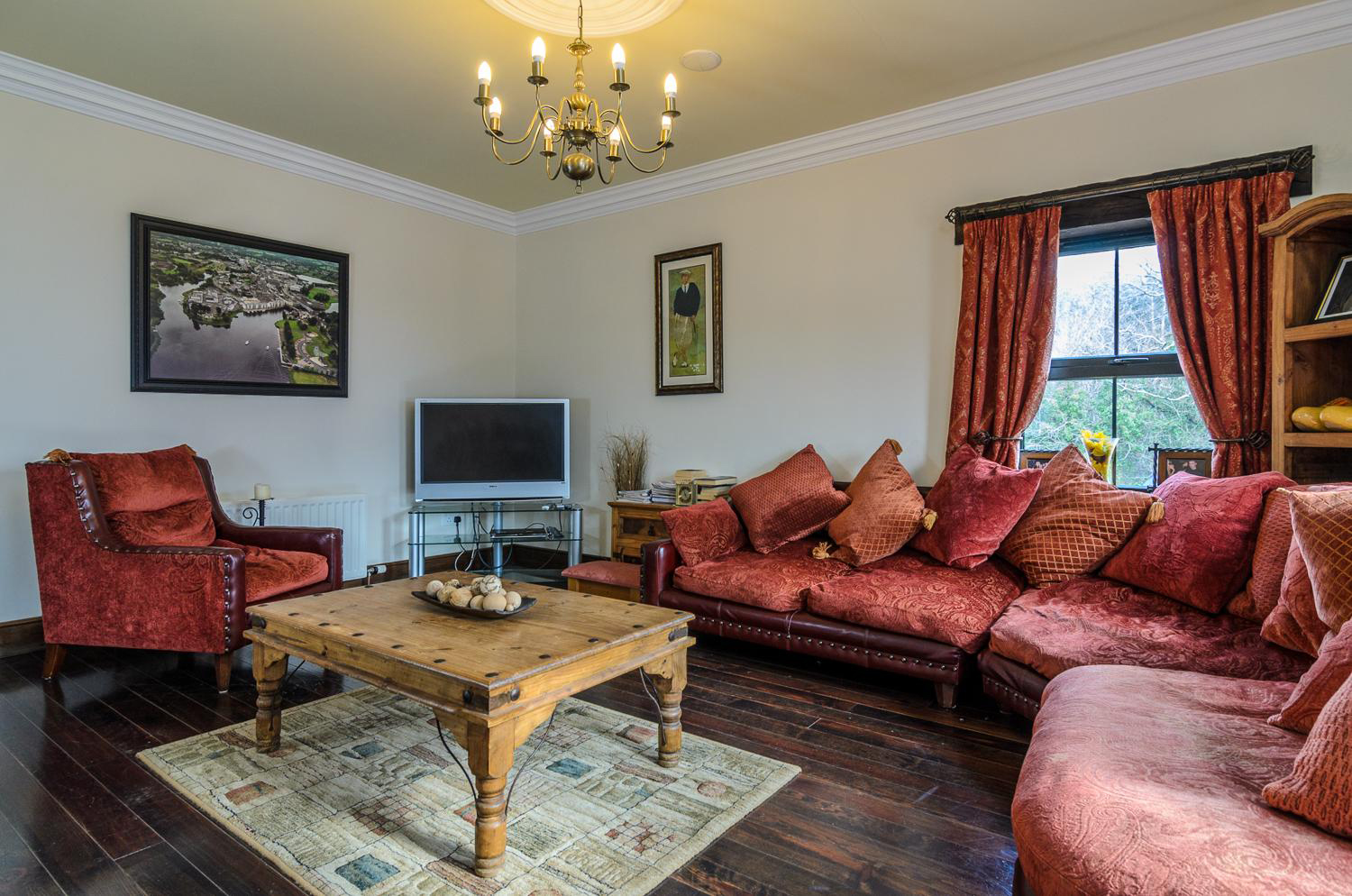 living room golf accommodation fermanagh